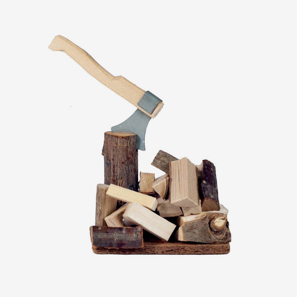 Lotte Sievers-Hahn Nativity: Chopping Block with Wood Pile
