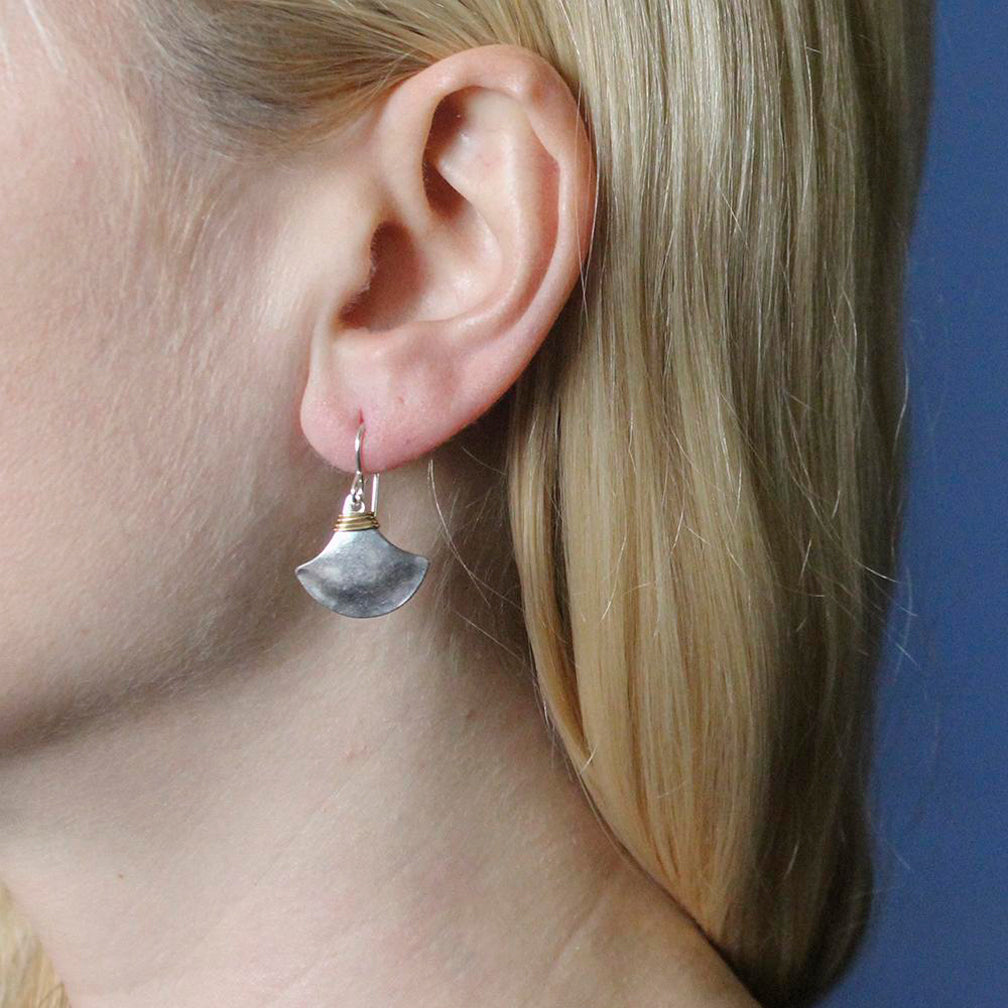 Marjorie Baer Wire Earrings: Wire Wrapped Fan