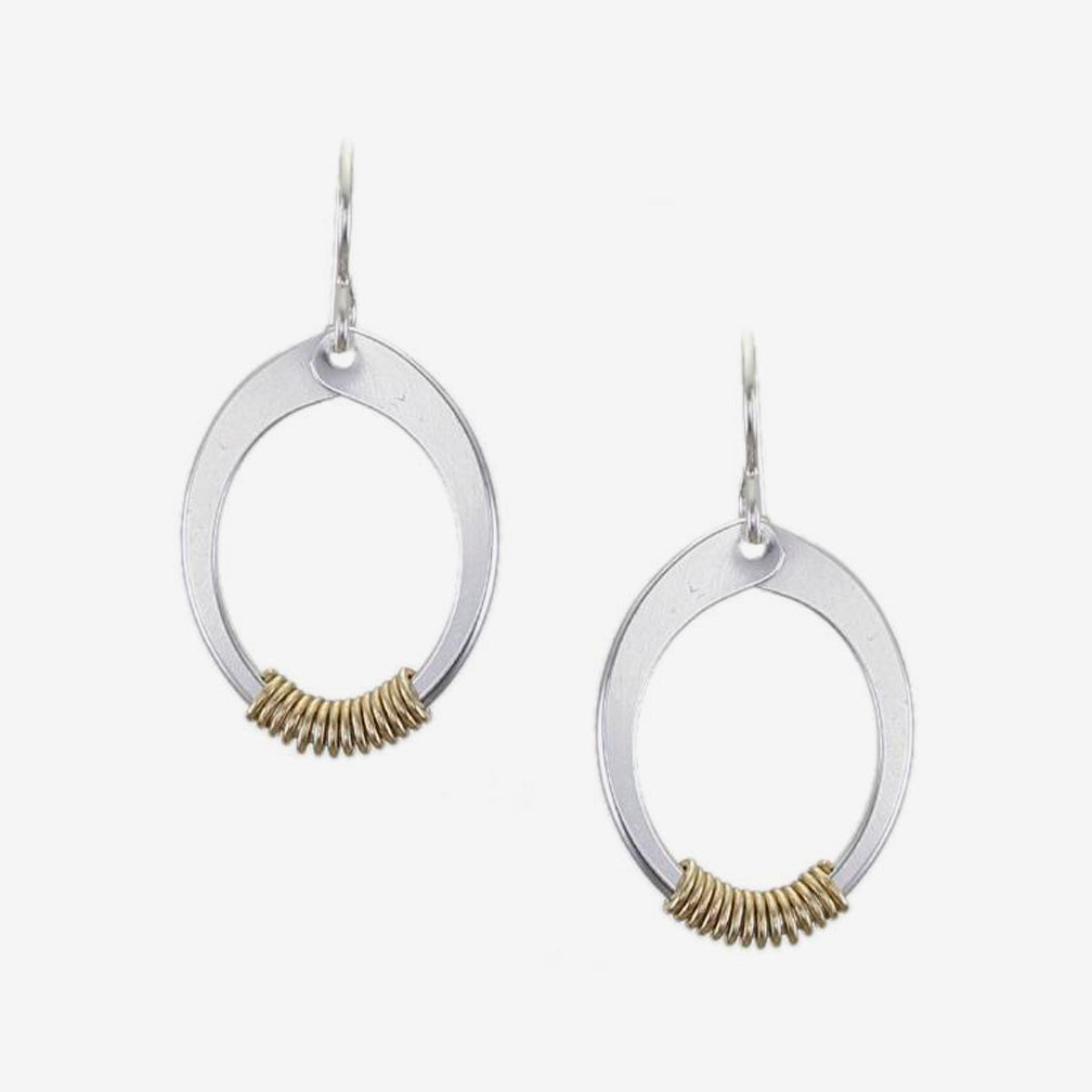 Marjorie Baer Wire Earrings: Wire Wrapped Oval