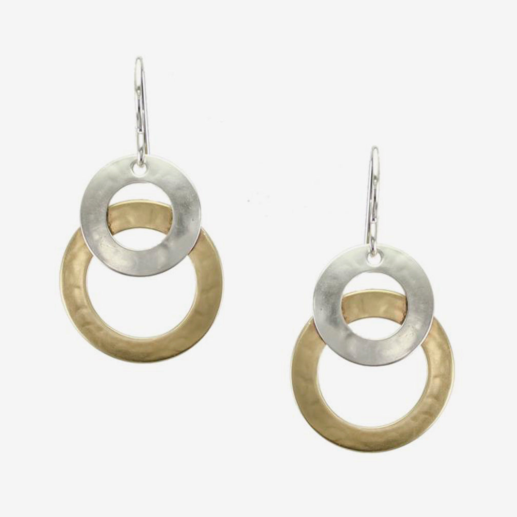 Marjorie Baer Wire Earrings: Layered Wide Rings
