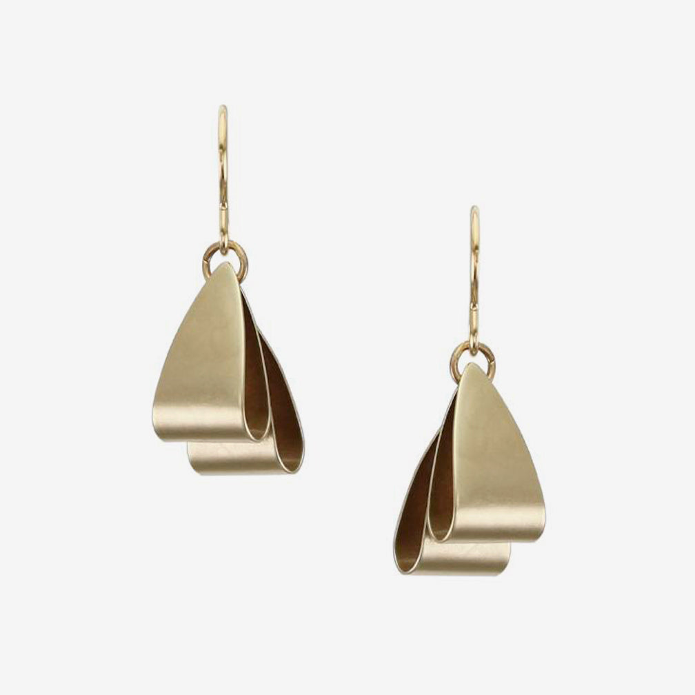 Marjorie Baer Wire Earrings: Folded Triangles