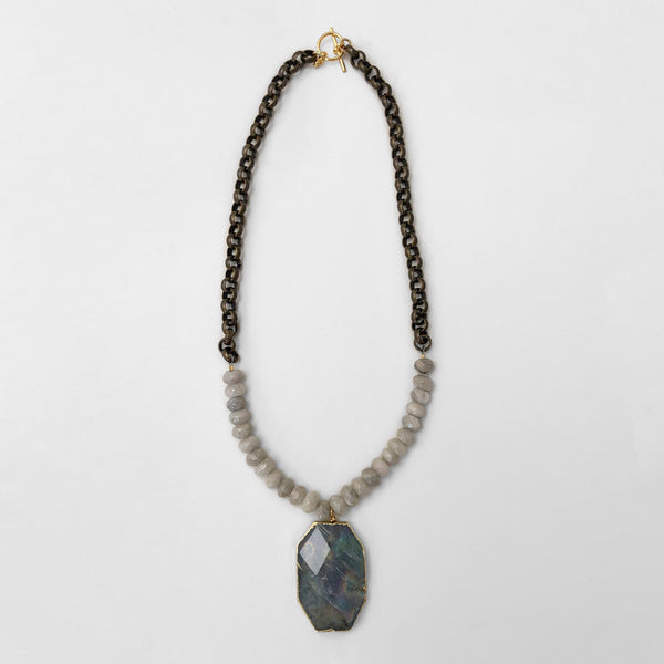 Mary Garrett Jewelry: Necklace: Labradorite Pendant