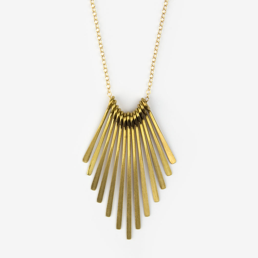 Mary Garrett Jewelry: Necklace: Brass Tassel on Gold Chain