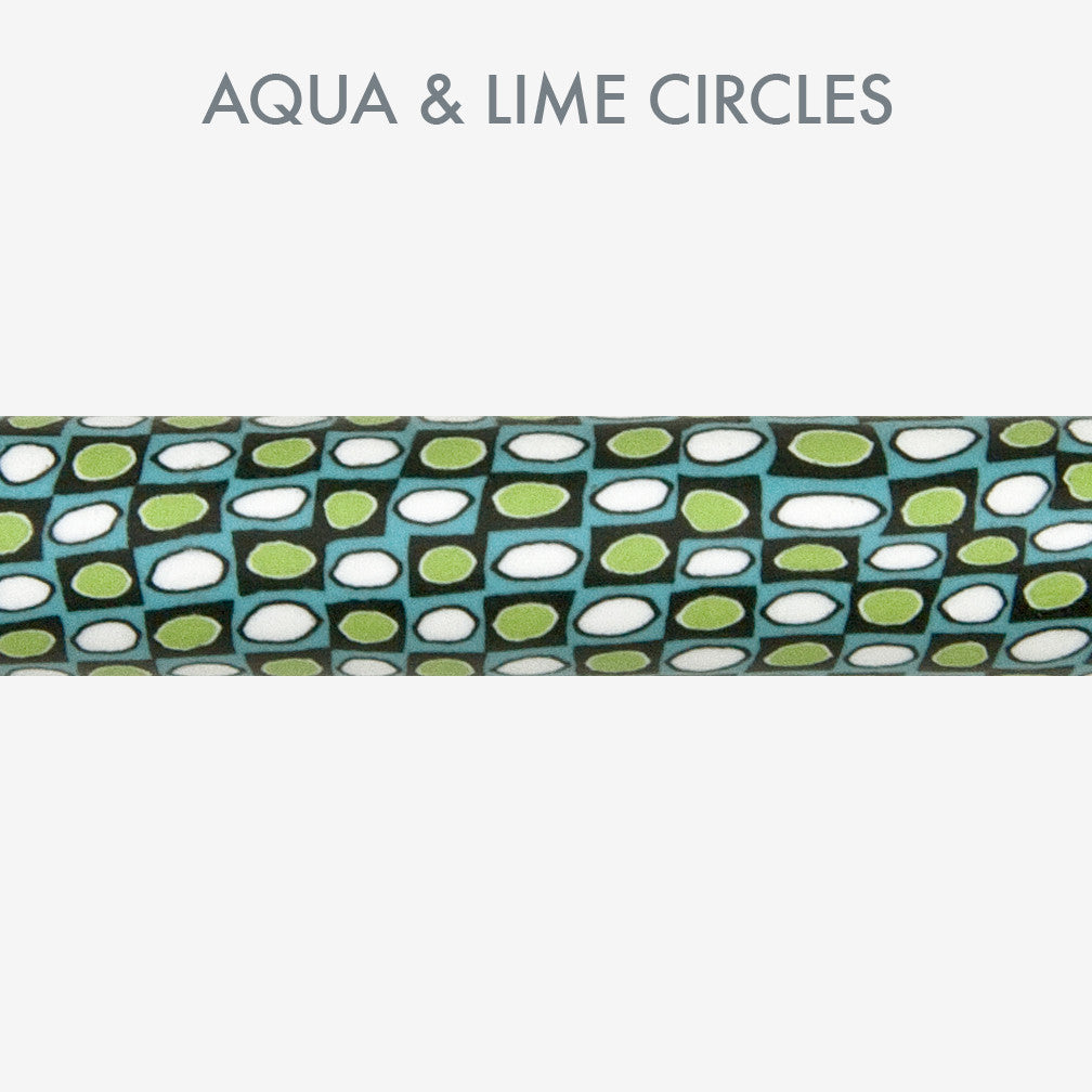 Merrily Made by Merrie: Mosaic Stylus Pens: Aqua & Lime Circles
