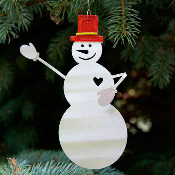 Metal Petal Art: Smiling Snowman Ornament