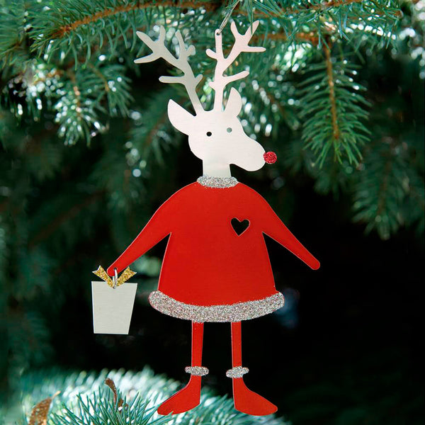 Metal Petal Art: Santa Reindeer Ornament