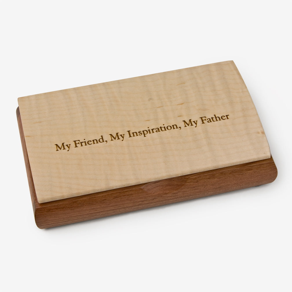 Mikutowski Woodworking: Possibility Quote Box: My Friend, My Inspiration, My Father