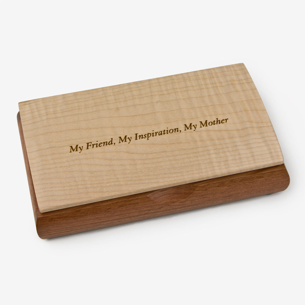 Mikutowski Woodworking: Possibility Quote Box: My Friend, My Inspiration, My Mother