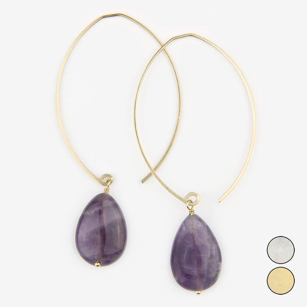 Noon Designs: Earrings: Core Collection, Amethyst