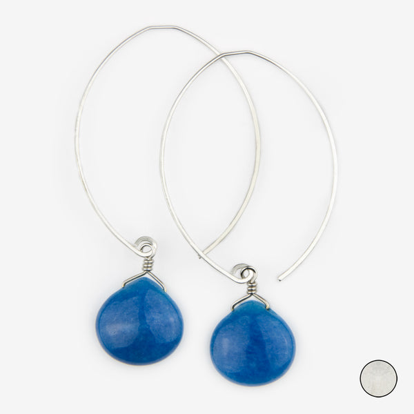 Noon Designs: Earrings: Core Collection, Navy Jade