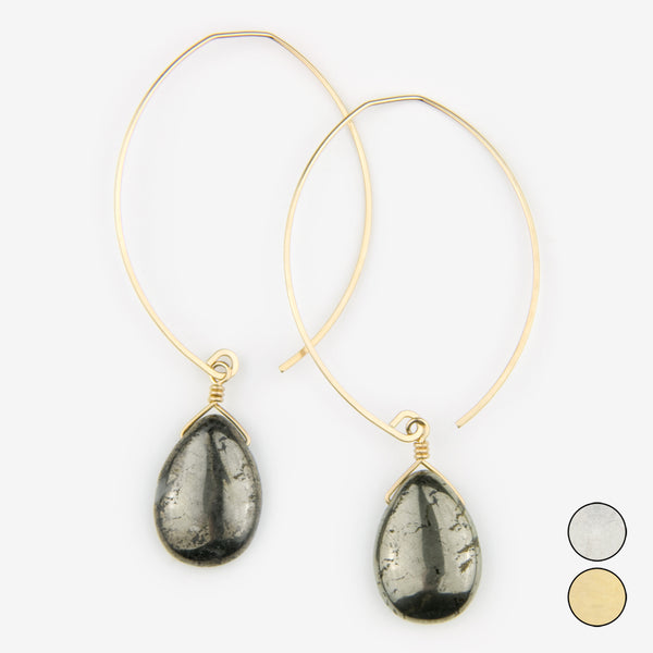 Noon Designs: Earrings: Core Collection, Pyrite