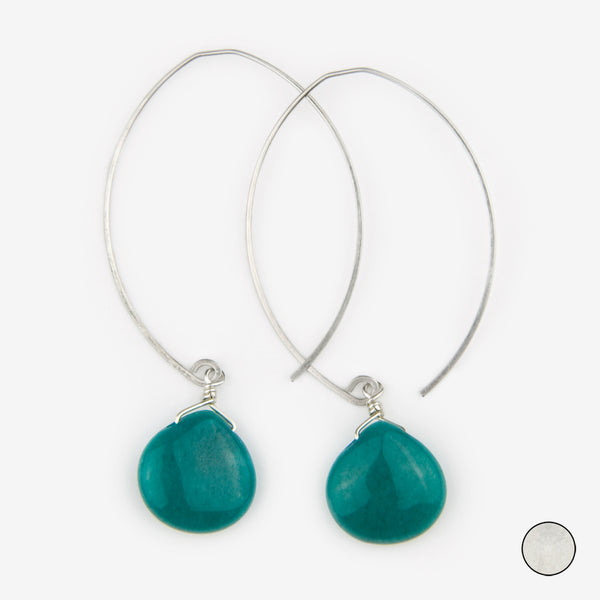Noon Designs: Earrings: Core Collection, Teal Jade