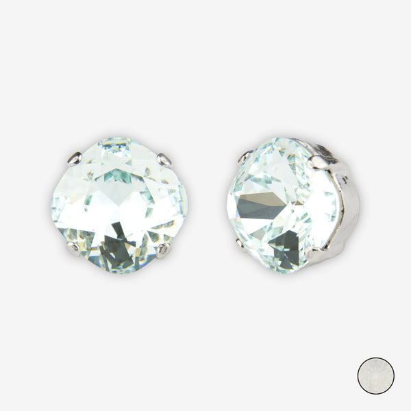 Noon Designs: Earrings: Large Dazzling Stud, Frost