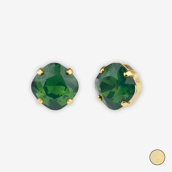 Noon Designs: Earrings: Small Dazzling Stud, Fern