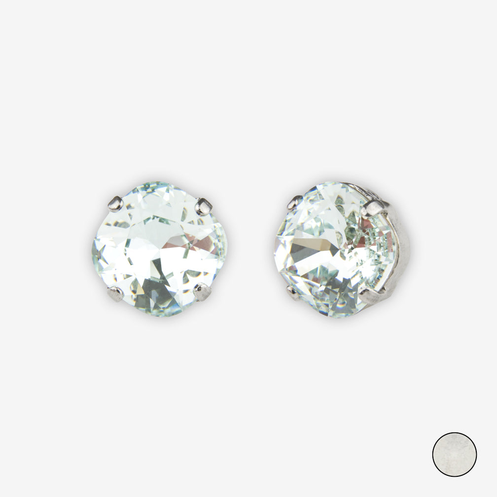 Noon Designs: Earrings: Small Dazzling Stud, Frost