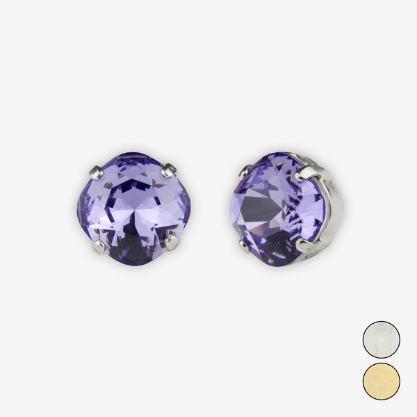 Noon Designs: Earrings: Small Dazzling Stud, Tanzanite