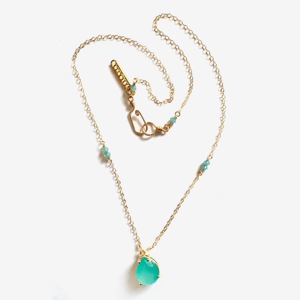 Noon Designs: Mini Sparkler Necklace, Island/Gold