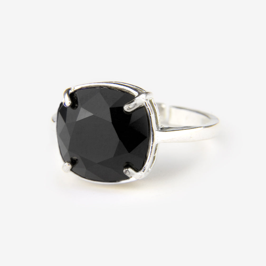 Noon Designs: Ring: Swarovski, Jet Black