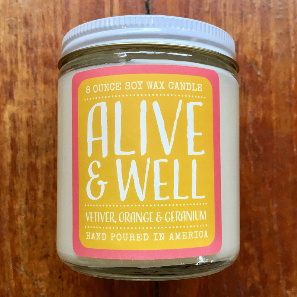Noon Designs: Soy Candle: Alive & Well