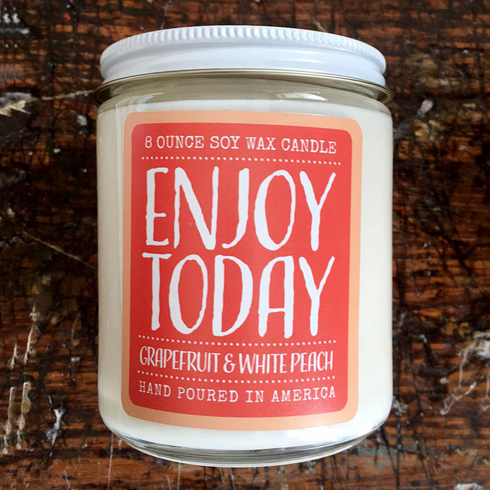 Noon Designs: Soy Candle: Enjoy Today