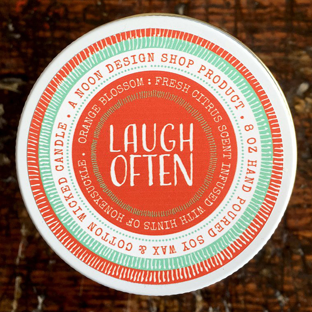 Noon Designs: Soy Candle: Laugh Often
