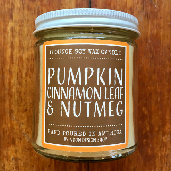 Noon Designs: Soy Candle: Pumpkin