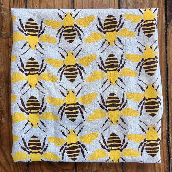 Noon Designs: Tea Towel: Bees