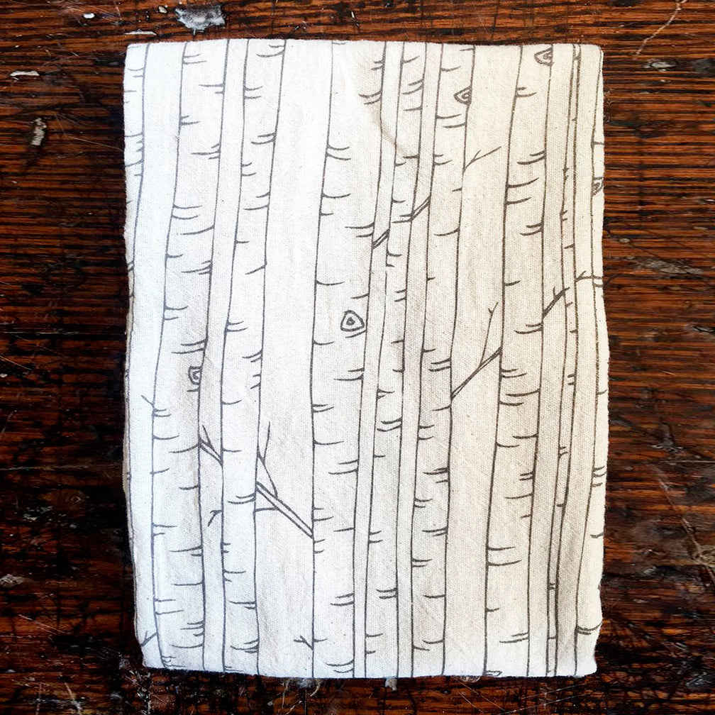 Noon Designs: Tea Towel: Birch Trees