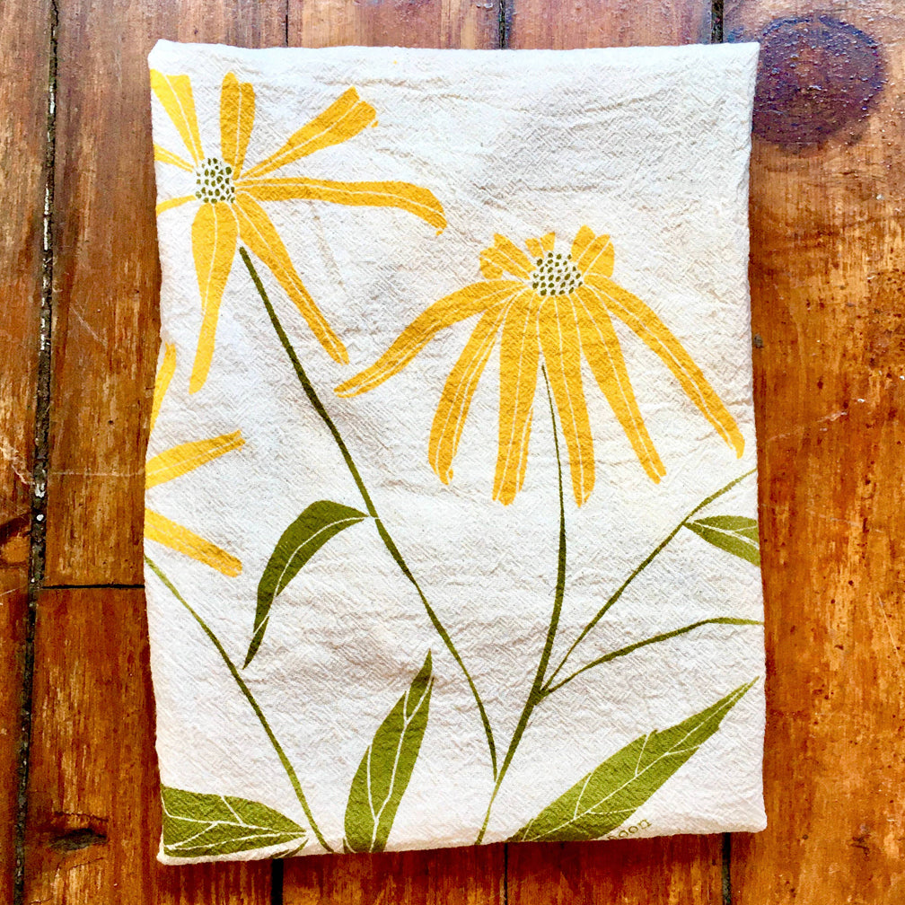 Noon Designs: Tea Towel: Black-Eyed Susans