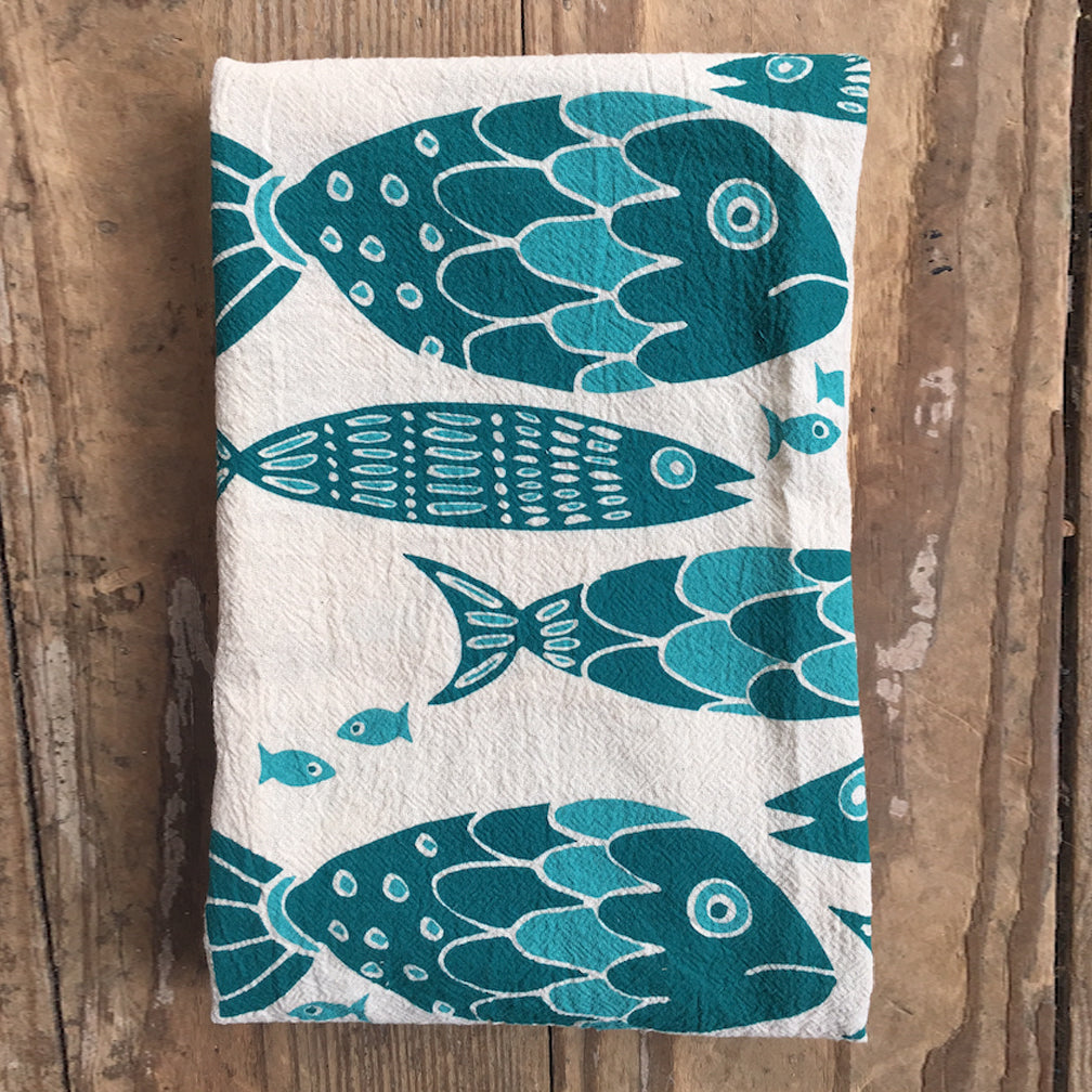 Noon Designs: Tea Towel: Fish Tribe