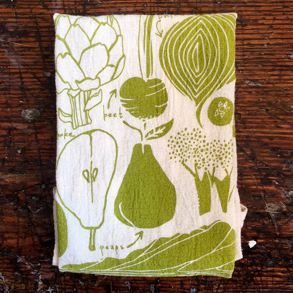 Noon Designs: Tea Towel: Fruit & Veggies
