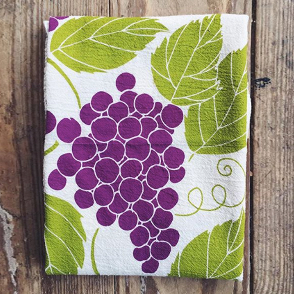 Noon Designs: Tea Towel: Grapes