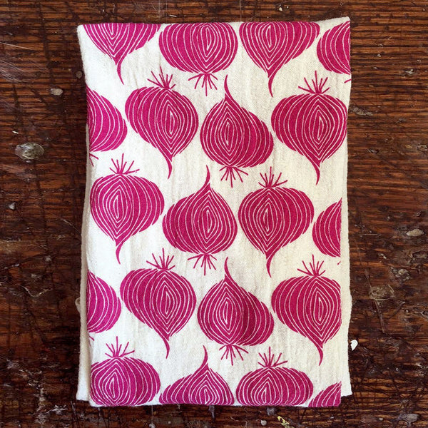 Noon Designs: Tea Towel: Red Onions