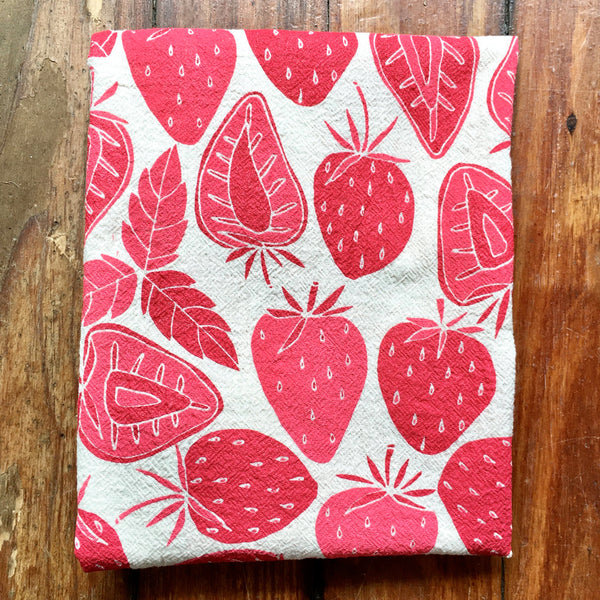 Noon Designs: Tea Towel: Strawberries