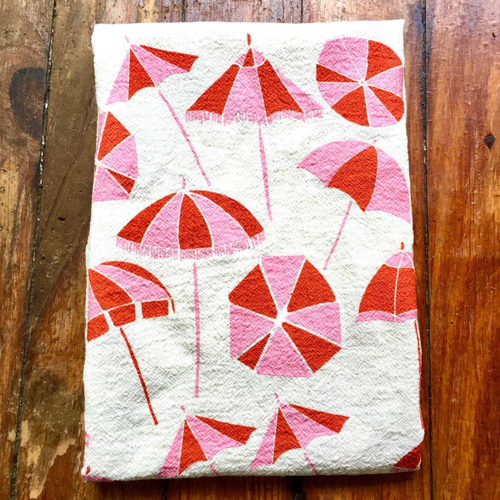 Noon Designs: Tea Towel: Sun Umbrella