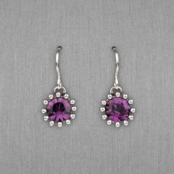 Patricia Locke Jewelry: Cupcake Earrings in Amethyst