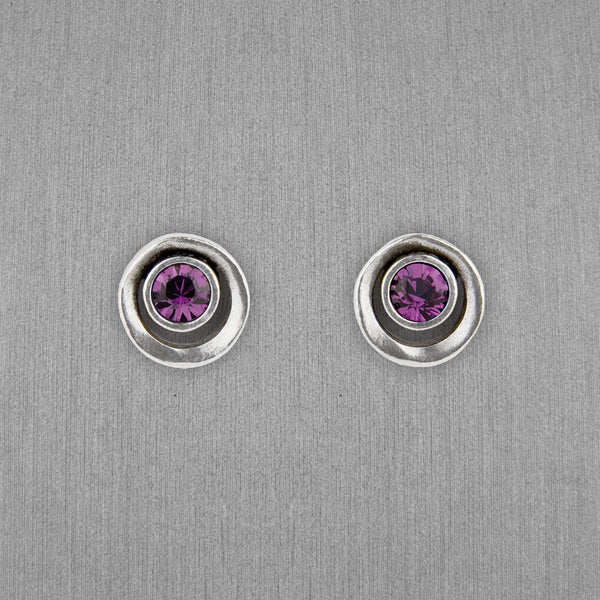 Patricia Locke Jewelry: Eye Spy Post Earrings in Amethyst