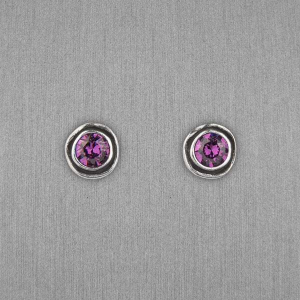 Patricia Locke Jewelry: On The Dot Earrings in Amethyst