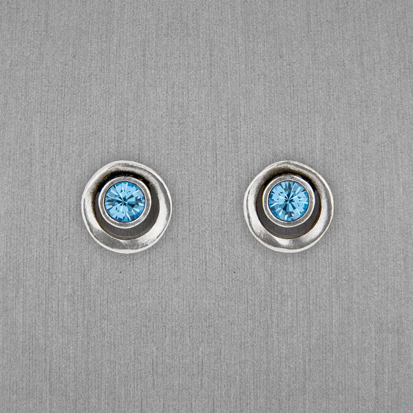 Patricia Locke Jewelry: Eye Spy Post Earrings in Aquamarine