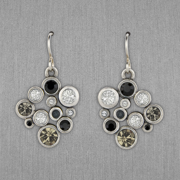 Patricia Locke Jewelry: Grace Earrings in Black & White