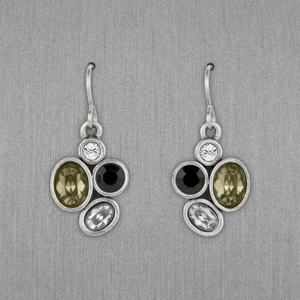 Patricia Locke Jewelry: Mercy Earrings in Black & White