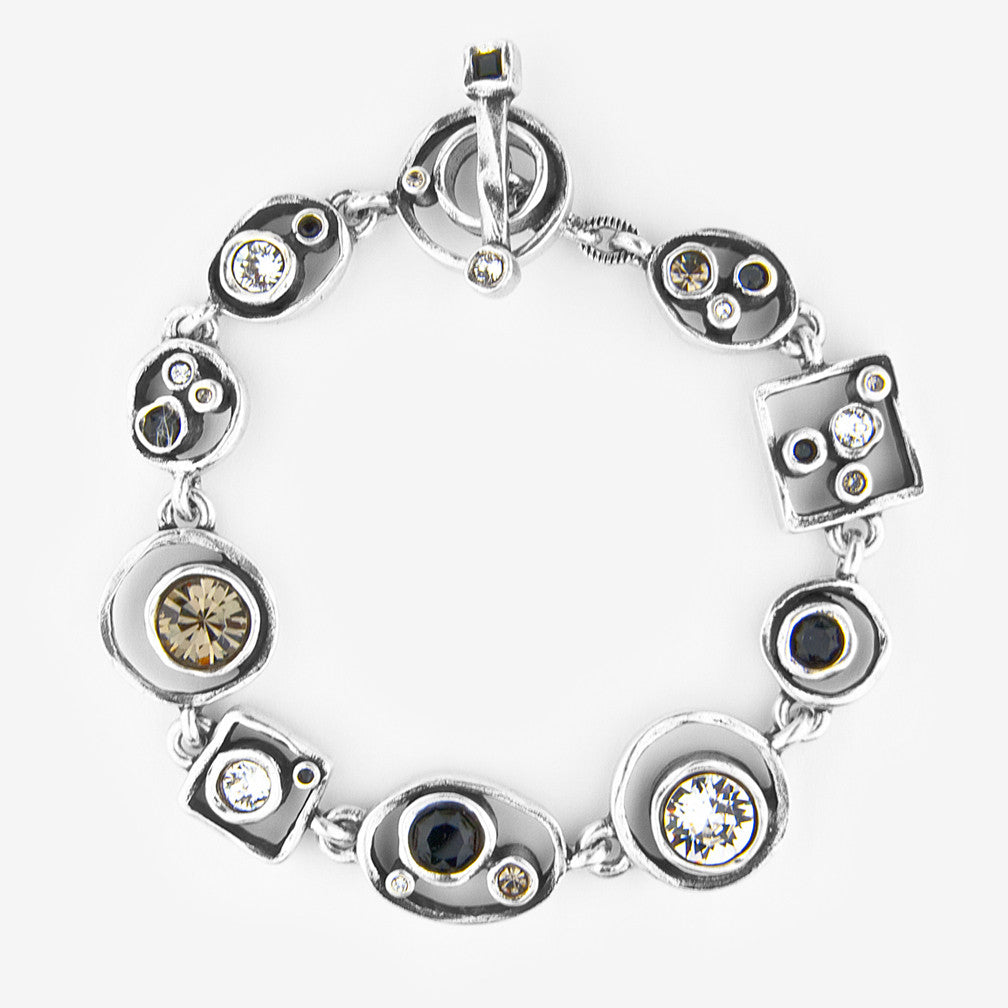 Patricia Locke Jewelry: Penny Arcade Bracelet in Black & White