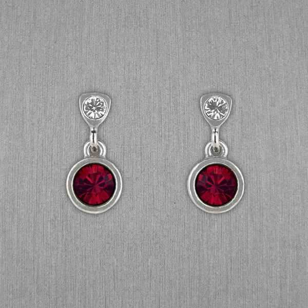 Patricia Locke Jewelry: Bouton Earrings in Ruby