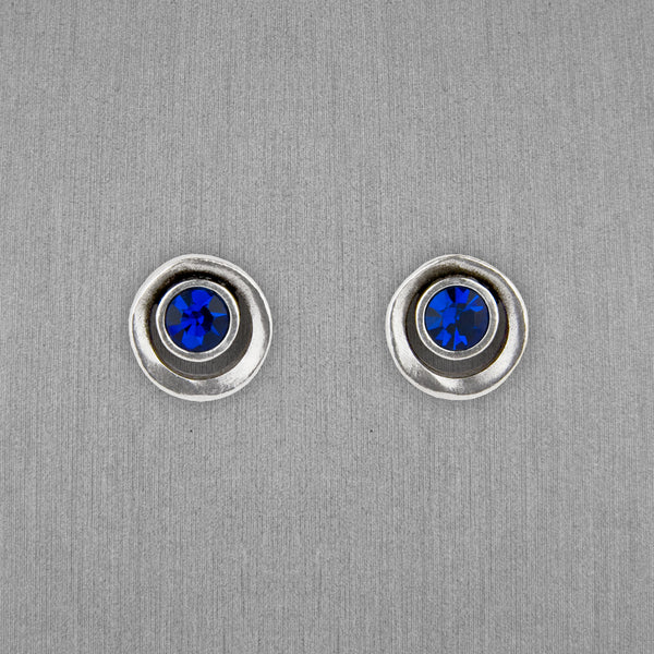 Patricia Locke Jewelry: Eye Spy Post Earrings in Capri Blue