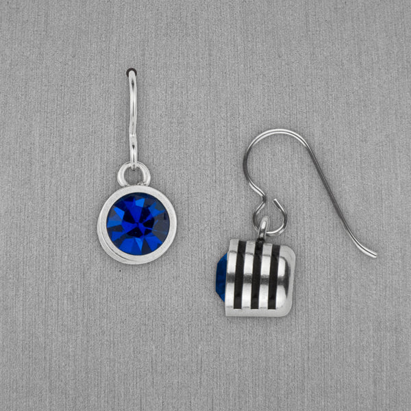Patricia Locke Jewelry: Slotted Earrings in Capri Blue