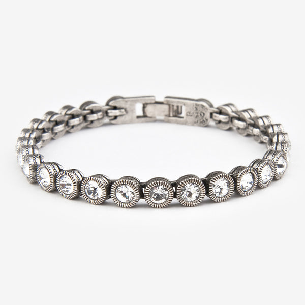 Patricia Locke Jewelry: Game, Set, Match Bracelet in Crystal