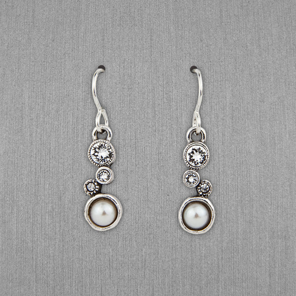 Patricia Locke Jewelry: Cassie Earrings in Crystal Pearl