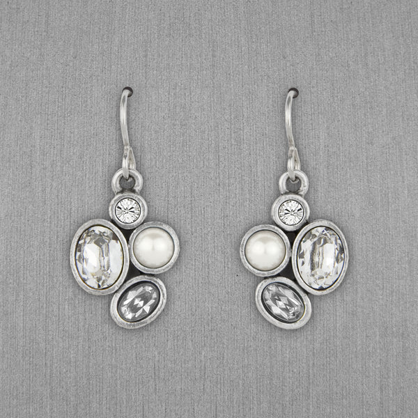 Patricia Locke Jewelry: Mercy Earrings in Crystal Pearl