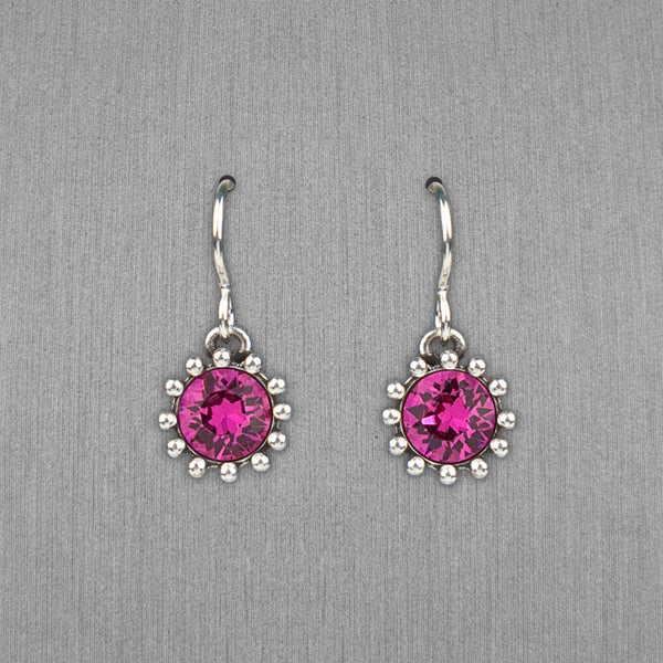 Patricia Locke Jewelry: Cupcake Earrings in Fuchsia