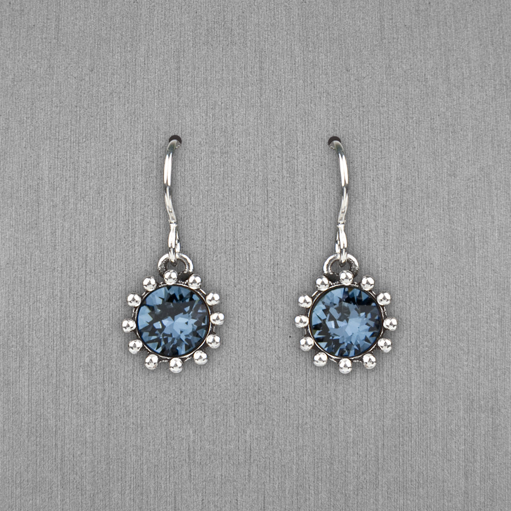 Patricia Locke Jewelry: Cupcake Earrings in Denim Blue